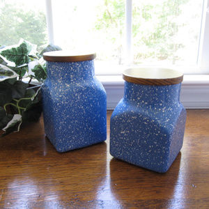 Other - Decorative Glass Canisters - Set of 2